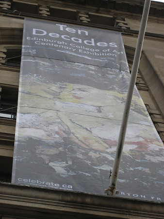 Ten Decades Banner which featured my 'Car Couple' City Arts Centre Edinburgh.