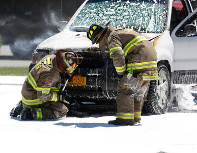 Car fire at Carbone Ford of Bennington. 080816