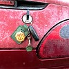 MGF keys in the boot on an icy morning