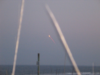 shuttle launch from the beach