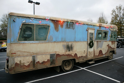 "Bob Boston brought ""Cousin Eddie's"" motor home from the movie ""National Lampoon's Christmas Vacation"" to the show."