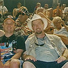 This is my buddy Bennie Dick and I in the stands at the race.