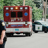 Fitchburg Police were investigating a car v. bicycle accident at the intersection of St. Bernard's Street and Boutelle Street in Fitchburg on Thursday, July 6, 2017. SENTINEL & ENTERPRISE / Ashley Green