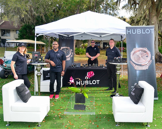 The crew from Hublot Watches at the Vestivals of Speed...Amelia Island, Florida.