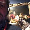 "Caravaggio: ""Supper at Emmaus"" viewed 12/27/16 at the National Gallery, London, England."