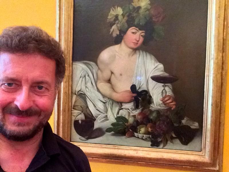 Caravaggio: The Adolescent Bacchus. Uffizi Gallery, Florence. 6/6/2015