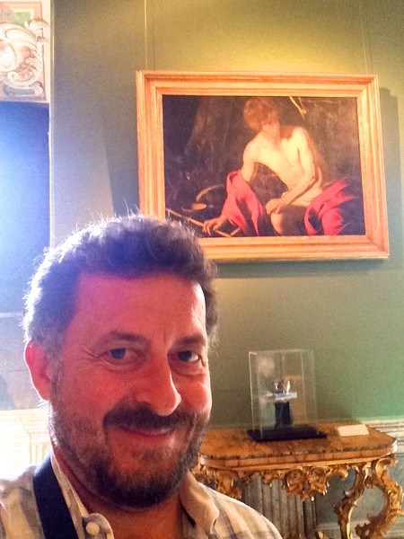Caravaggio: St. John the Baptist. Galleria Nazionale d'Arte Antica, Rome, Italy. 6/8/2015