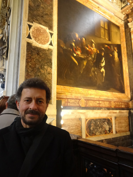 "Caravaggio: ""The Calling of St. Matthew""<br /> Contarelli Chapel in the church San Luigi dei Francesi, Rome 12/23/12"