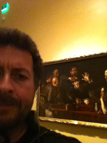 "Caravaggio: ""The Toothpuller""<br /> Galleria Palatina,  Pitti Palace, Florence, Italy<br /> Viewed at LACMA 1/4/13"