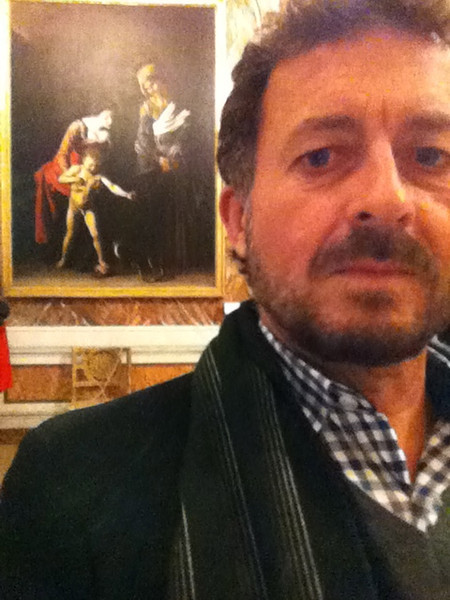 "Caravaggio: ""Madonna and Child with St. Anne""<br /> Galleria Borghese, Rome 12/21/12"