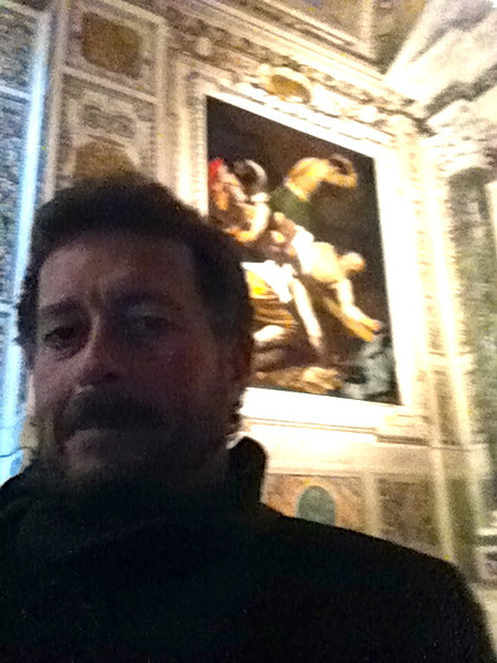 "Caravaggio: ""The Crucifixion of St. Peter""<br /> Cerasi Chapel of Santa Maria del Popolo in Rome 12/23/12"