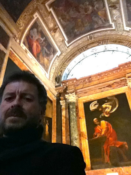 "Caravaggio: ""The Inspiration of St. Matthew""<br /> Contarelli Chapel of the church of the French congregation San Luigi dei Francesi in Rome 12/23/12"