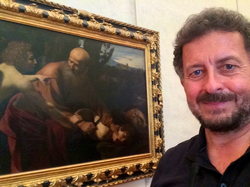 Caravaggio: The Sacrifice of Isaac. Uffizi Gallery, Florence, Italy. 6/6/2015
