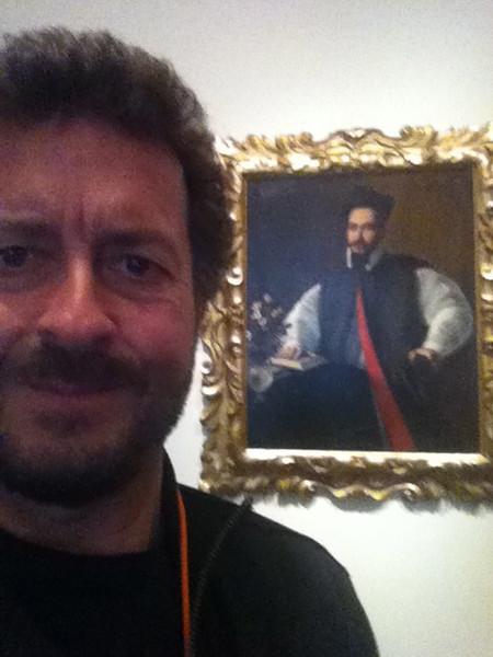 """Caravaggio: """"Portrait of Maffeo Barberini""""<br /> Private Collection in Florence, Italy.  Seen at LACMA 1/4/13"""