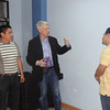 Paul and David give Galo a tour of Clinica Dulce Refugio.