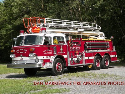 EAST PENN TWP. FIRE CO. TRUCK 328 1977 AMERICAN LA FRANCE TELESQUIRT