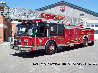 DILIGENCE FIRE CO. TRUCK 1421 1990 E-ONE AERIAL LADDER