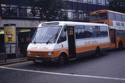 Cardiff Bus 165 Cardiff Bus Stn Sep 94