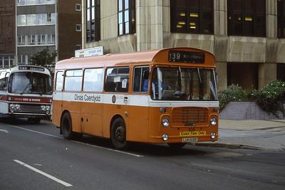 Cardiff Bus 105 Wood St Cardiff Aug 85