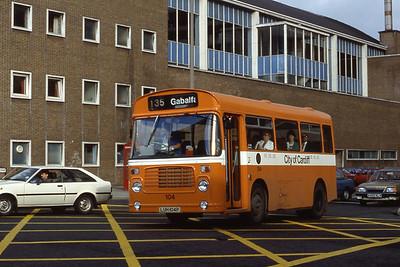 Cardiff Bus 104 Wod St Cardiff Aug 85