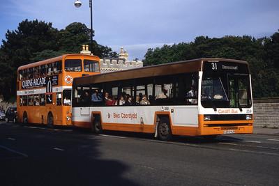 Cardiff Bus 259 Cowbridge Rd East Cardiff Sep 94