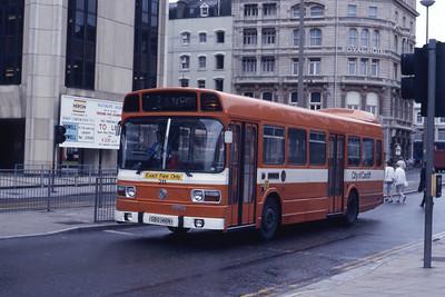 Cardiff Bus 211 Wood ST Cardiff Aug 85