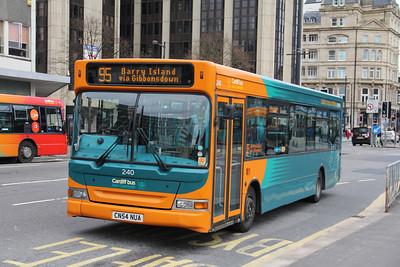 Cardiff Bus 240 Wood St Cardiff Apr 14