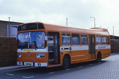 Cardiff Bus 206 Cardiff Bus Stn Aug 85