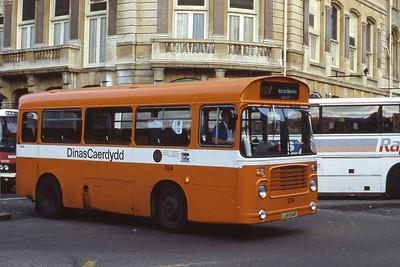 Cardiff Bus 104 St Mary St Cardiff Aug 85