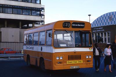 Cardiff Bus 103 Cardiff Bus Stn Aug 85
