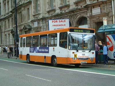 Cardiff Bus 029 Westgate St Cardiff Jun 04