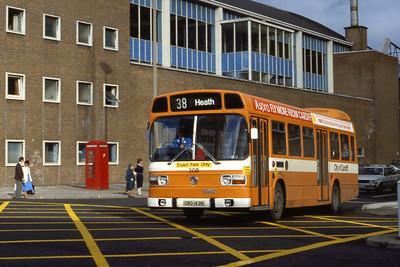 Cardiff Bus 208 Wood St Cardiff Aug 85
