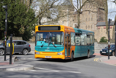 Cardiff Bus 225 Castle St Cardiff Apr 14