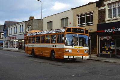 Cardiff Bus 205 Albany Road Cardiff Aug 85