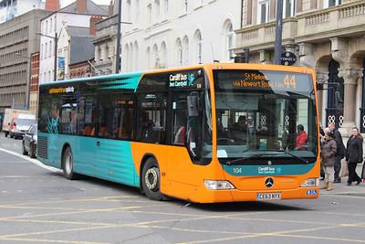 Cardiff Bus 104 Westgate St Cardiff Apr 14