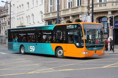 Cardiff Bus 117 Westgate St Cardiff Apr 14