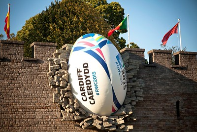 Cardiff Castle 2015 Rugby Ball Installation 7