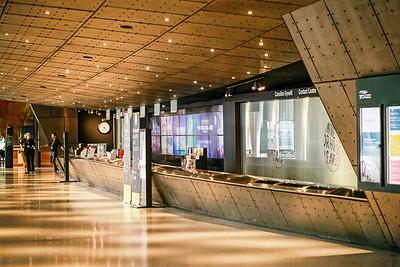 Wales Millennium Centre Recetion Desks, Cardiff Bay
