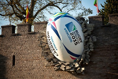 Cardiff Castle 2015 Rugby Ball Installation 5