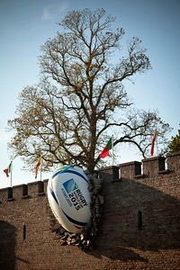 Cardiff Castle 2015 Rugby Ball Installation 3
