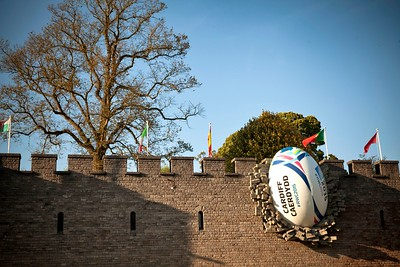 Cardiff Castle 2015 Rugby Ball Installation 6