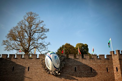 Cardiff Castle 2015 Rugby Ball Installation 4