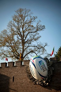 Cardiff Castle 2015 Rugby Ball Installation 2