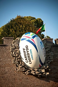 Cardiff Castle 2015 Rugby Ball Installation 10