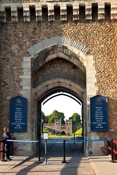 Cardiff Castle Gates, Wales UK
