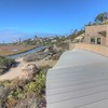 San Elijo Lagoon nature center and native reed hut in Cardiff San Diego
