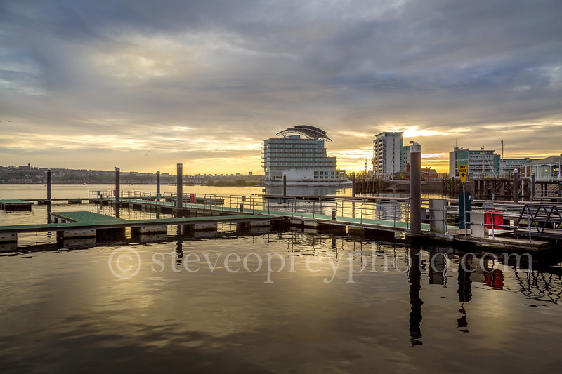 Cardiff Bay Just Before Sunset