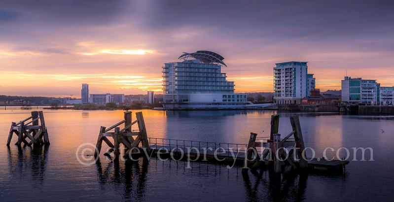 Sunset Cardiff Bay