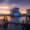 Sunset Cardiff Bay