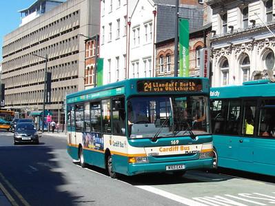 169 - W169EAX - Cardiff (Westgate St) - 23.7.12